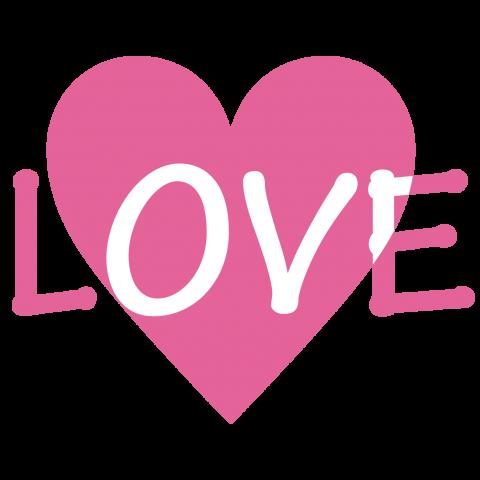 ハートマーク+LOVE